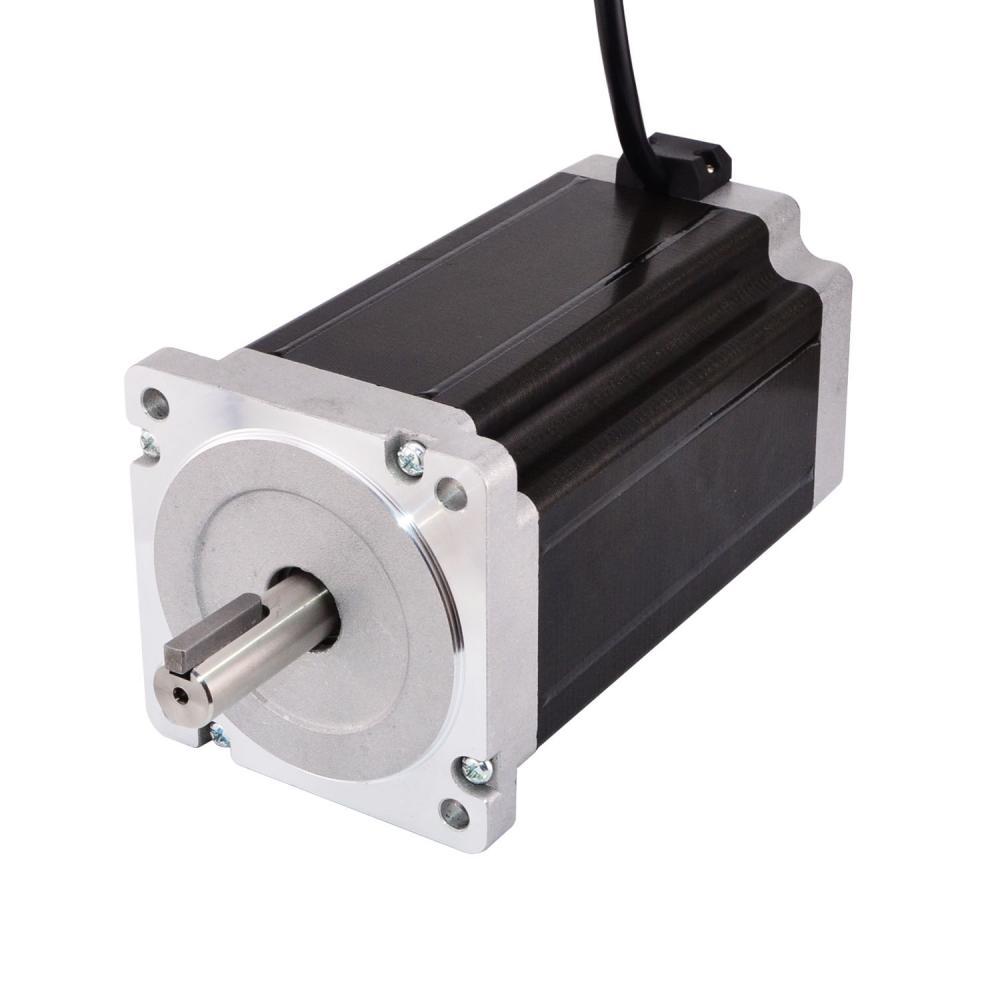 Nema 34 Stepper Motor 13Nm 1841oz in Keyway Dual Shaft 86x86x150mm 5A 4 lead for CNC