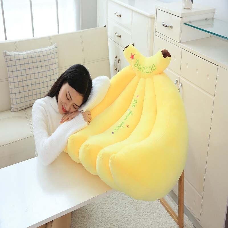 Large cute stretch banana sofa pillow creative fruit chair simple lazy simulation cartoon stretch banana sofa pillow - 6