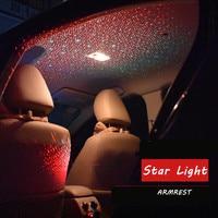 12V LED Auto Atmosphere Lamp Room Interior Light USB Red Green /Blue Star Sky Light LED Car Roof Star Night Lights Projector