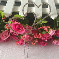 Free Shipping Double Heart Cake Topper Wedding Gifts Party Supplier Cake Accessory CT 8866