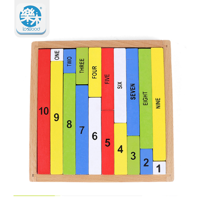Montessori Utdanning Tre Leker 1-10 Cognitive Math Toy Lærer Logaritme Versjon Kid Early Learning Digit boks