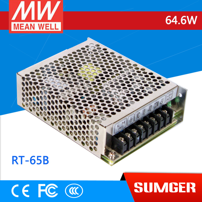 все цены на [Sumger2] MEAN WELL original RT-65B meanwell RT-65 64.6W Triple Output Switching Power Supply онлайн