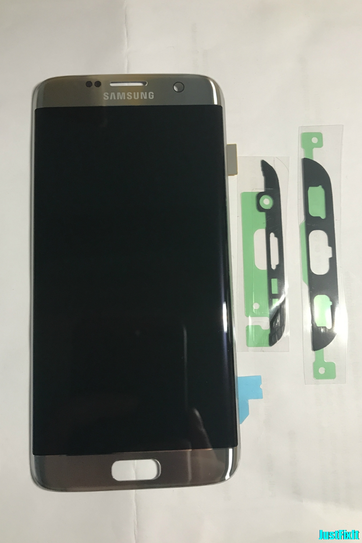 Super AMOLED argent pour Samsung Galaxy S7 edge G935F G935A G935FD défaut affichage lcd avec numériseur d'écran tactile 5.5''