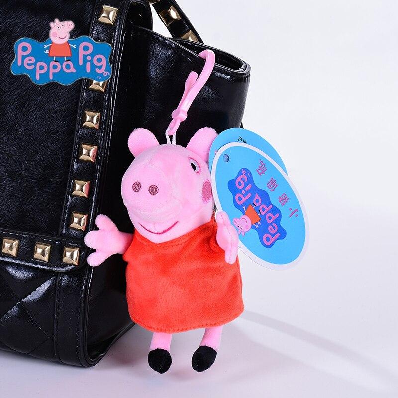 Produit Original 1 pièces 13CM rose Peppa Pig jouets en peluche de haute qualité offre spéciale douce peluche dessin animé Animal poupée pour cadeau pour enfants