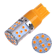 ФОТО 2pcs t20 7440 w21w 3030 35smd canbus led bulb lamp tail for front or rear turn signal lights  for bmw audi