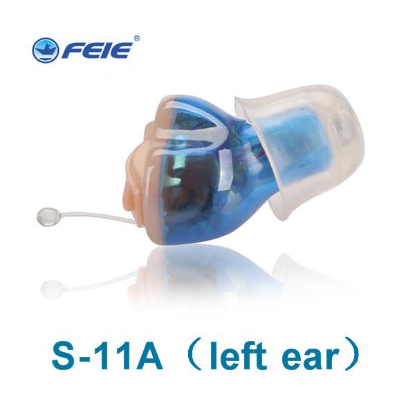 2017 produtos seeling quente 2 PÇS/LOTE mini CIC digital zoom ear hearing aid surdos aid ear amplificador de som voz S-11A
