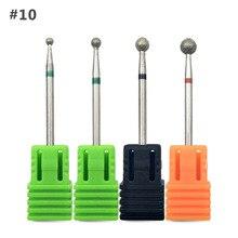 HYTOOS 4Pcs Diamond Nail Drill Bit 3/32″ Rotary Manicure Bits Nails Cuticle Burr Drill Accessories Nail Mills Manicure Tool D10