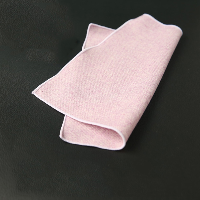 Mantieqingway Solid Color Pocket Square Wool Handkerchiefs For Mens Business Pocket Towel For Men Suit Small Chest Towel Hanky
