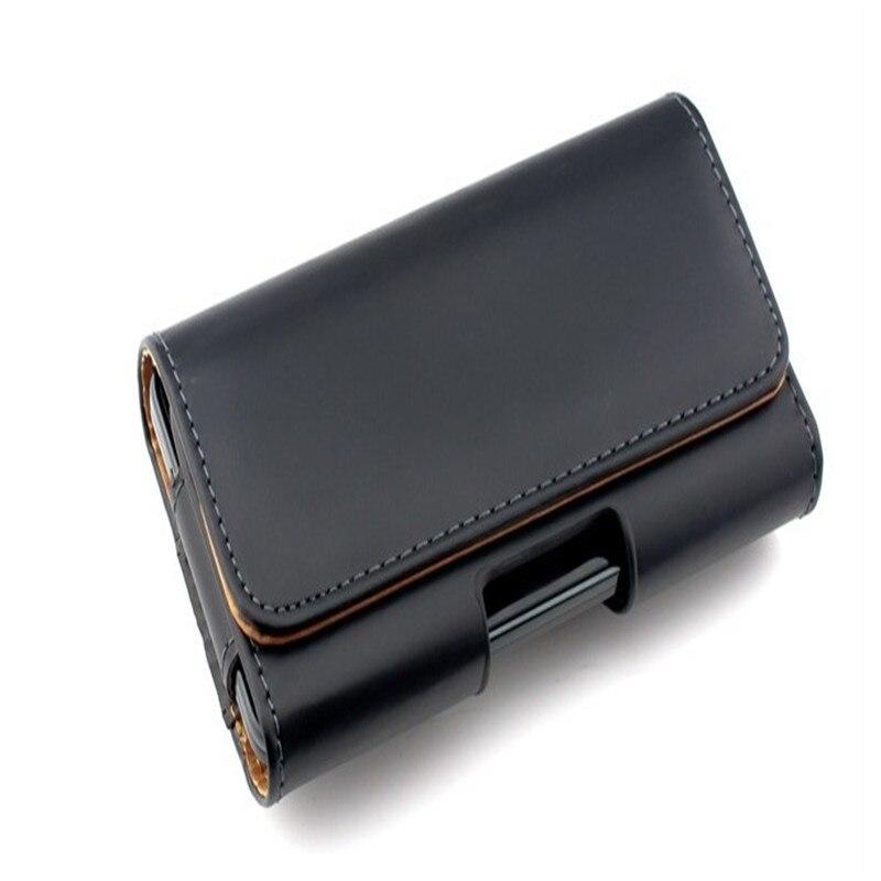 Nueva smooth/case clip de cinturón bolsa de bolsa de cuero del patrón de lichee