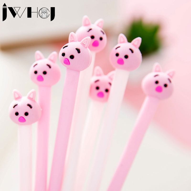2 pcs/lot Cute pink pig gel pen kawaii stationery office material escolar papelaria Writing tools school supplies kids gifts 5packs lot 10 colors new cute cartoon colored gel pen set kawaii stationery gift office