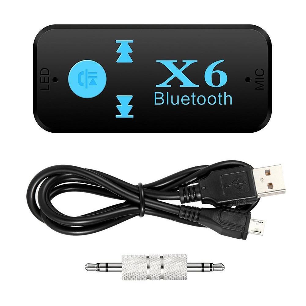 Tragbare 3,5mm Drahtlose Mini Audio Jack 3 In 1 Usb Tf Kartenleser Mic Anruf Bluetooth Empfänger 4,1 Adapter X6 Unterhaltungselektronik