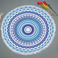 Geometri Large Microfiber Round Mandala Tapestry Beach Towel Blanket Indian Mats Yoga Wall Hangings Tapestries Bohemian Decor