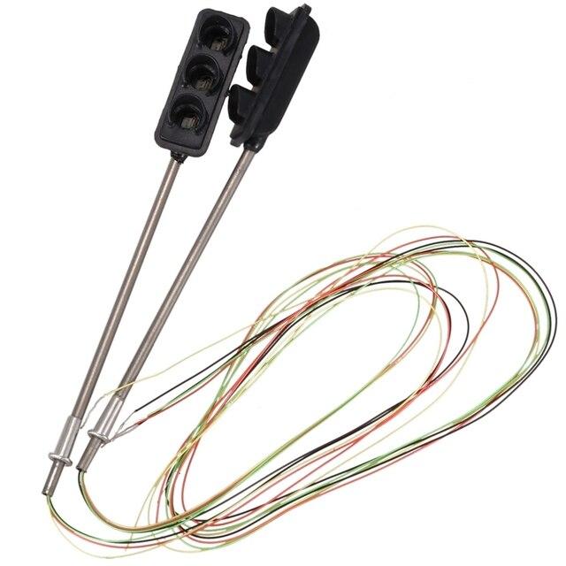 2 x Światło sygnalizacji ruchu HO OO Model w skali przejazdu kolejowego uliczne LED sygnały