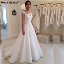 SINGLE ELEMENT Vestido De Noiva A Line Lace Beach Wedding Dress Chapel Train шапка befree befree mp002xw122jn