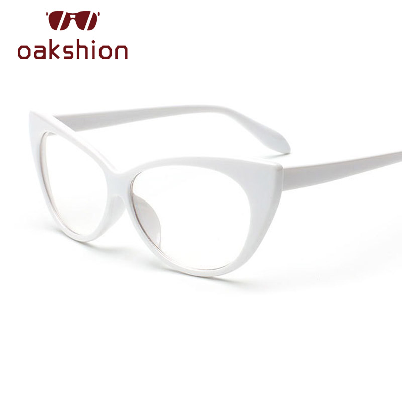 1b7624828af5 Oakshion New Fashion Cat Eye Flat Eyeglasses Vintage Clear Lens Big Frame  Leopard Glasses Outdoors Catwalk Eyewears Oculos 2018-in Women's Sunglasses  from ...