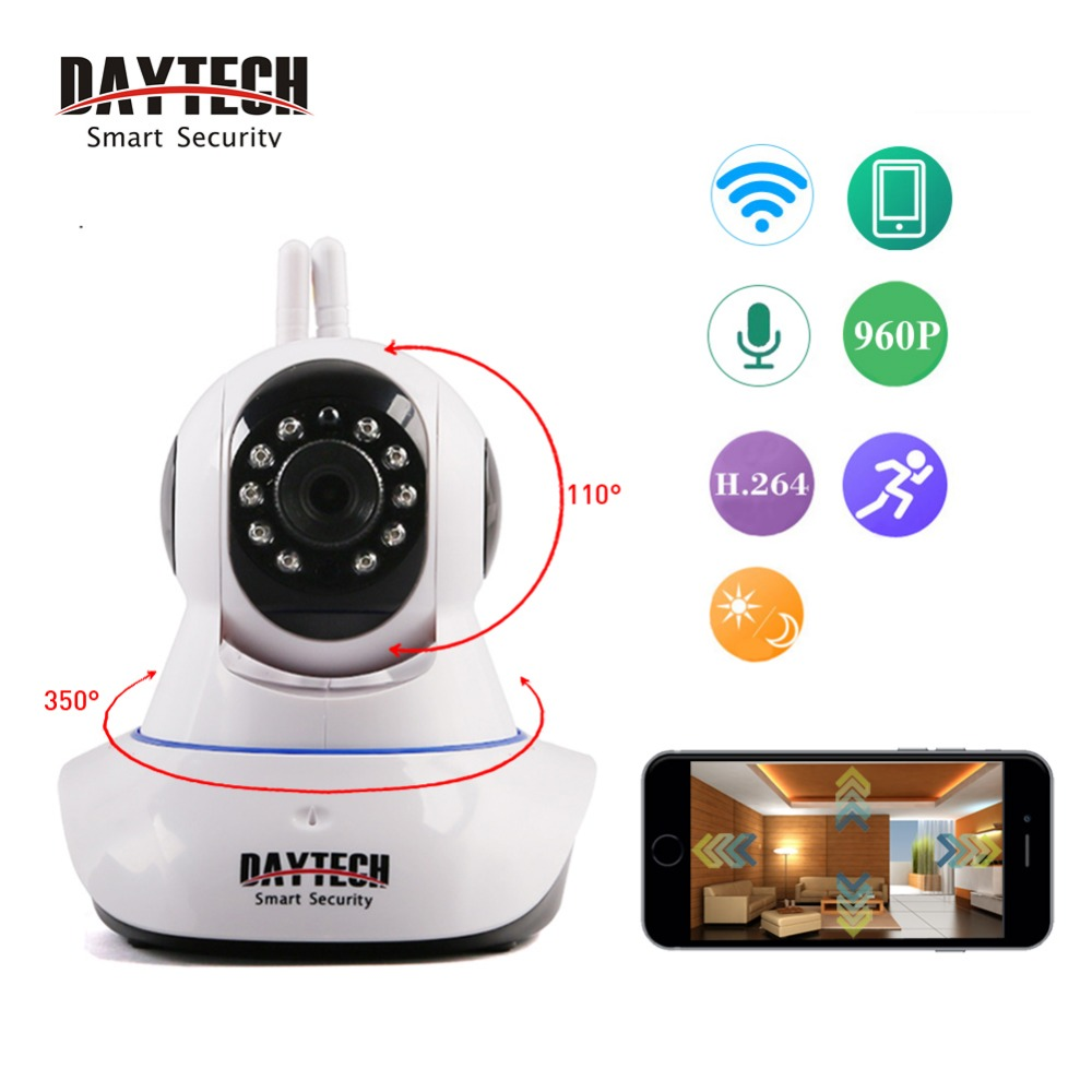 Daytech WiFi Camera IP Home Security Camera 960P Baby Monitor Two Way Audio Night Vision 960P Network CCTV Indoor Surveillance howell wireless security hd 960p wifi ip camera p2p pan tilt motion detection video baby monitor 2 way audio and ir night vision