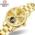 Роскошные брендовые карнавальные женские часы  женские Автоматические механические часы  женские сапфировые водонепроницаемые часы relogio ...