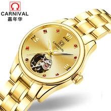 Luxury Brand Carnival Women Watches ladies Automatic Mechanical Watch Women Sapphire Waterproof relogio feminino Clock C8789L-6