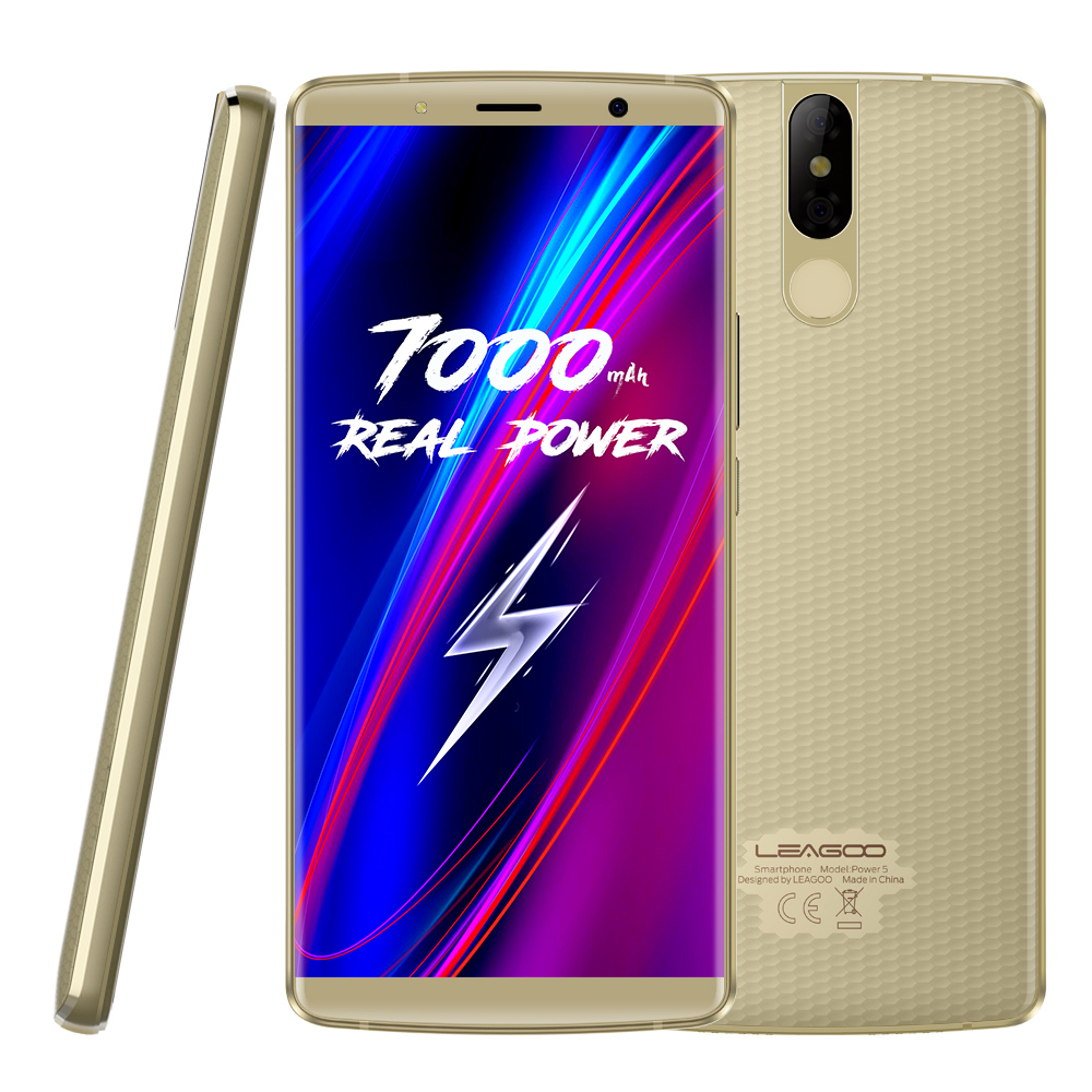 "LEAGOO POWER 5 5.99""FHD+ Mobile Phone RAM 6GB ROM 64GB Dual 13MP Camera Android 8.1 MT6763V Oct"