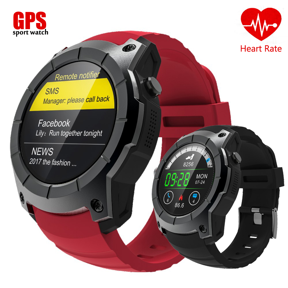 Bluetooth S958 GPS Multi-function Sport Watch Heart Rate Monitor Fitness Tracker Smart Watch support Sim card smartwatch phone itormis bluetooth gps smart watch smartwatch sim card phone watch fitness heart rate tracker multi sport mode for android ios