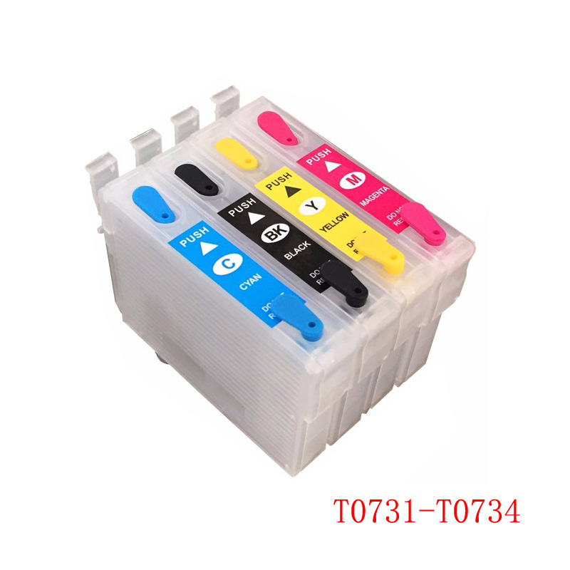 vilaxh T0731 - T0734 Refillable Ink Cartridge For Epson CX7300 CX8300 TX210 CX3900 CX3905 CX4900 CX4905 CX5500 CX5600 CX7310