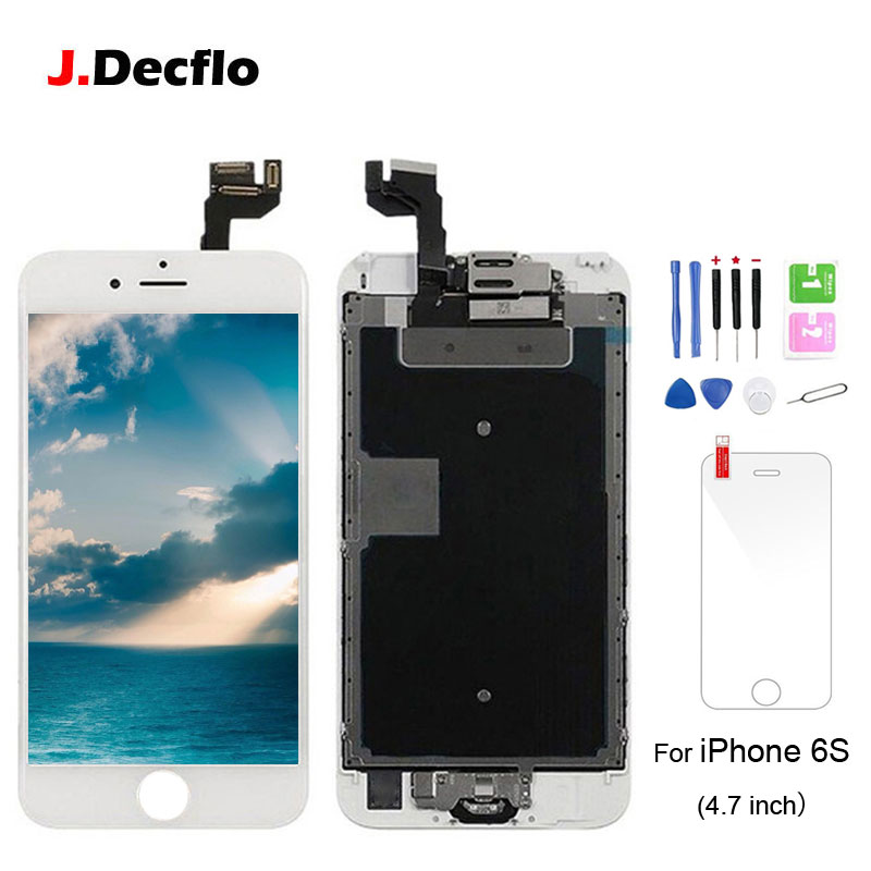 For iPhone 6S LCD Display Touch Screen Digitizer+Home Button+Front Camera+Ear Speaker Pre-Assembled Replacement with gifts image