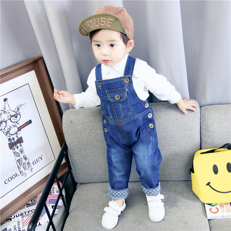 Children's Denim Overalls Baby Jeans Pants Baby Boys Girls Trousers Infant Clothing Toddler Babies Pants Little Kids 1-3 Years(China)