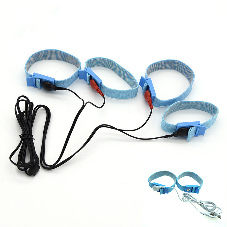 2\4 Pcs DIY Electric Shock Cock Rings Massage Penis Rings Safe Conductive Fiber Electro Shock Medical Themed Sex Toys Accessory
