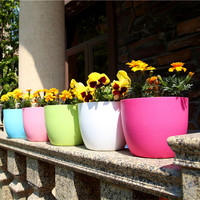 0007 Double Pottery Style Wall Hanging Planter Pot Home Decor Garden Decoration Automatic Watering Hydroponic Plant