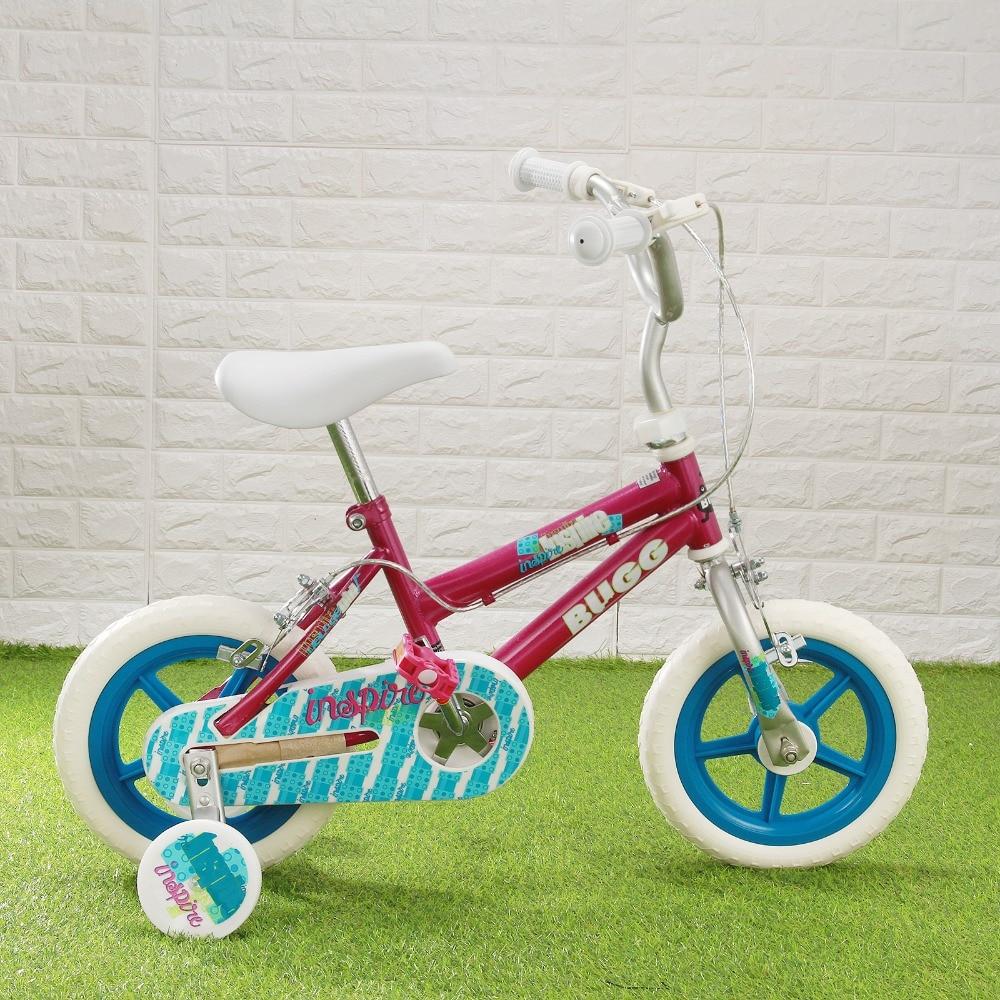 BUGG 12 Фиолетовый детский велосипед Велоспорт детский велосипед кататься на велосипеде тренировочные колеса