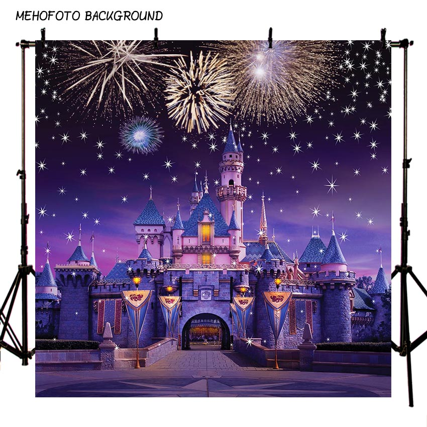 MEHOFOTO Photography Backdrops Birthday Party Fireworks Castle Baby Shower Photo Backgrounds for Studio Prop Custom ZR-224 baby photo props hot animals infant rabbit cotton crochet costume baby shower birthday party photography prop