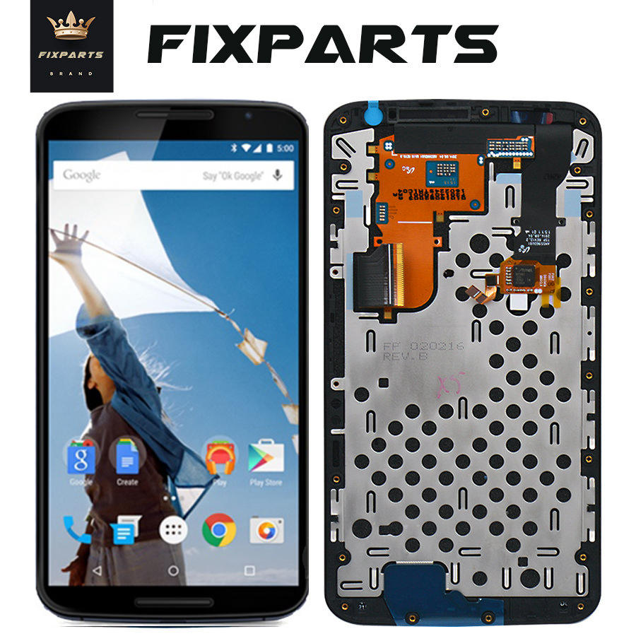 Original LCD Screen For Motorola Nexus 6 LCD Screen Touch Screen With Frame Digitizer Assembly Replacement XT1100 XT1103 Display