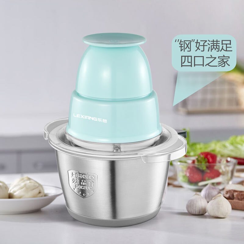 1.2L Meat Grinder Electric Garlic Mixer Mini Miner Minced Mince Chopping Machine Vegetable Chopping Chilli Baby Food Blender square chopping board