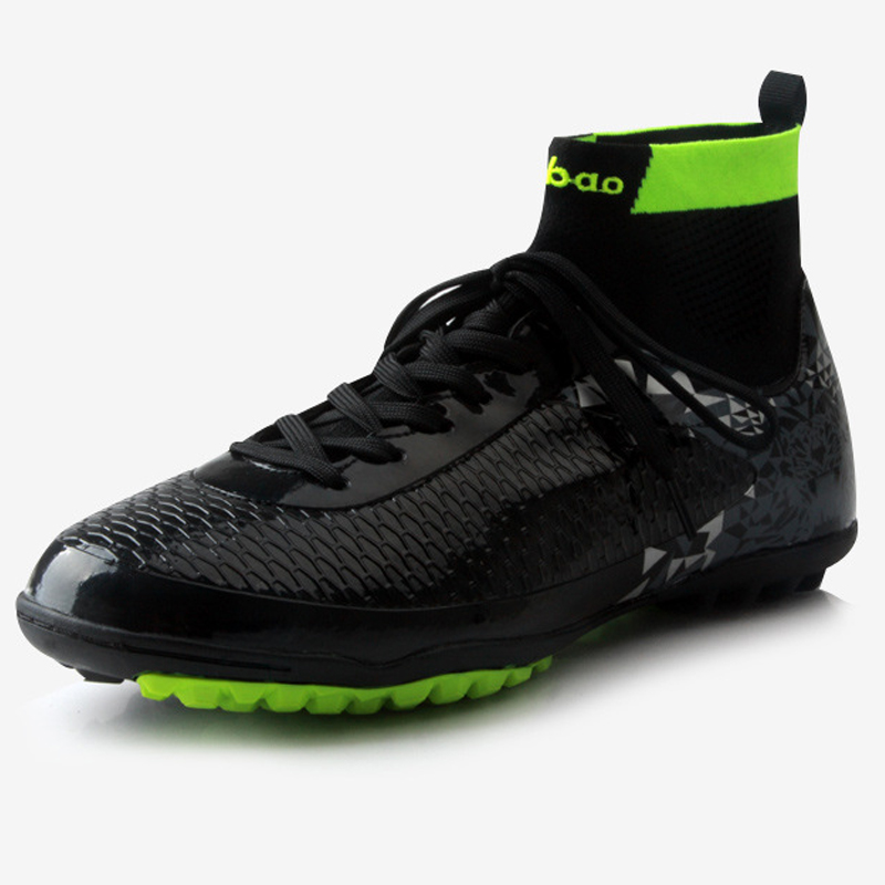 Indoor Turf TF High Ankle Futsal Football Boots Sneakers Soccer Shoes Adult Futsal Sock Men Shoes EUR 38-45 health top soccer shoes kids football boots cleats futsal shoes adult child crushed breathable sport football shoes plus 36 45