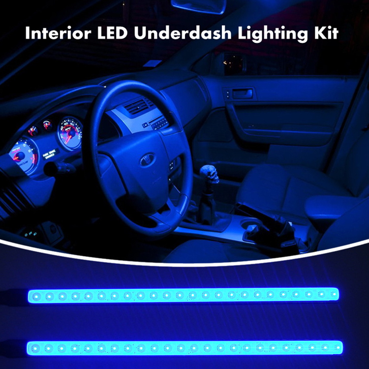 New Design 4pcs Car Interior Light Atmosphere Ambience Led Footwell Underdash Kit
