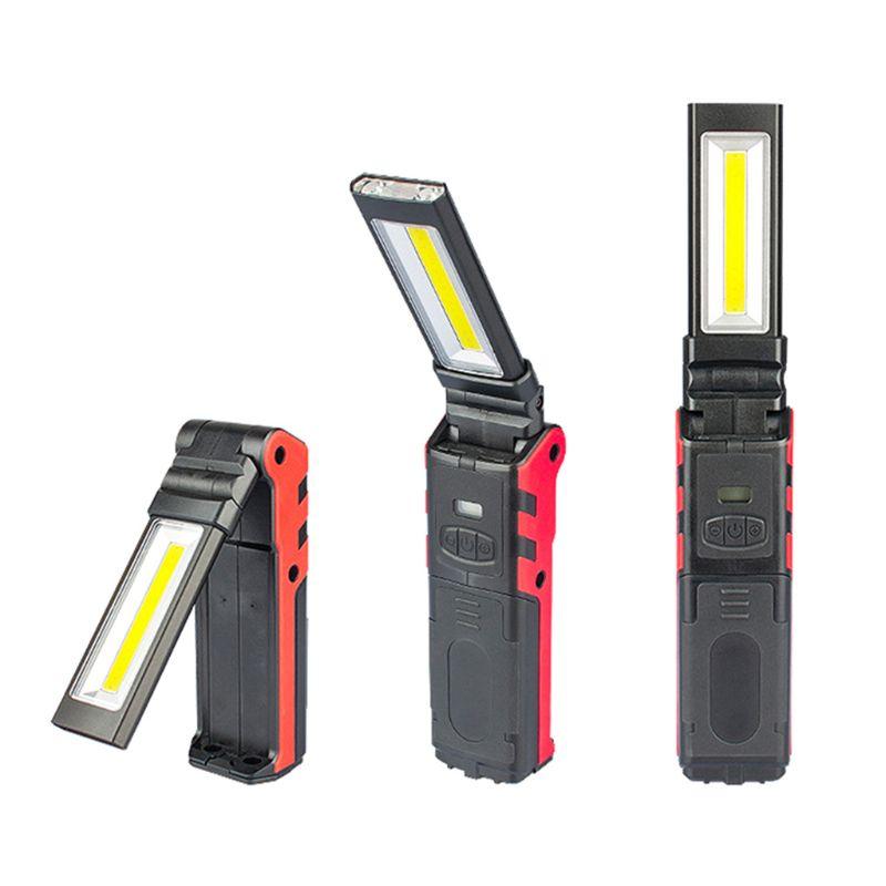 Super Brilhante COB LEVOU Luz de Trabalho Com Base Magnética & Gancho USB Recarregável Lanterna Regulável