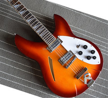где купить custom  360 12-string semi-hollow jazz electric guitar  sunset color free shipping по лучшей цене