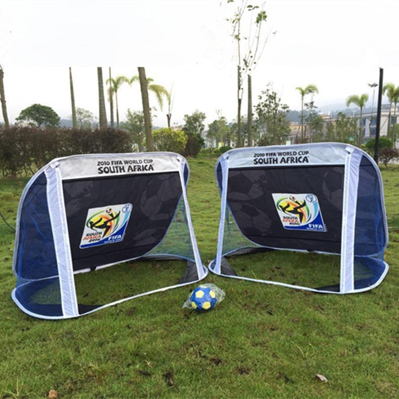 Foldable Football Gate Net Goal Gate Portable Soccer Ball Practice Gate for Children Soccer Training Football Games for Kids