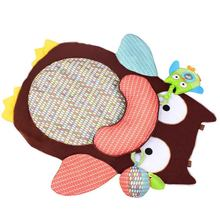 Baby Game Pad Baby Crawling Blanket with Cute Cartoon Animal Crawling Carpet Round Animal Floor Mat for Children Baby Product(China)