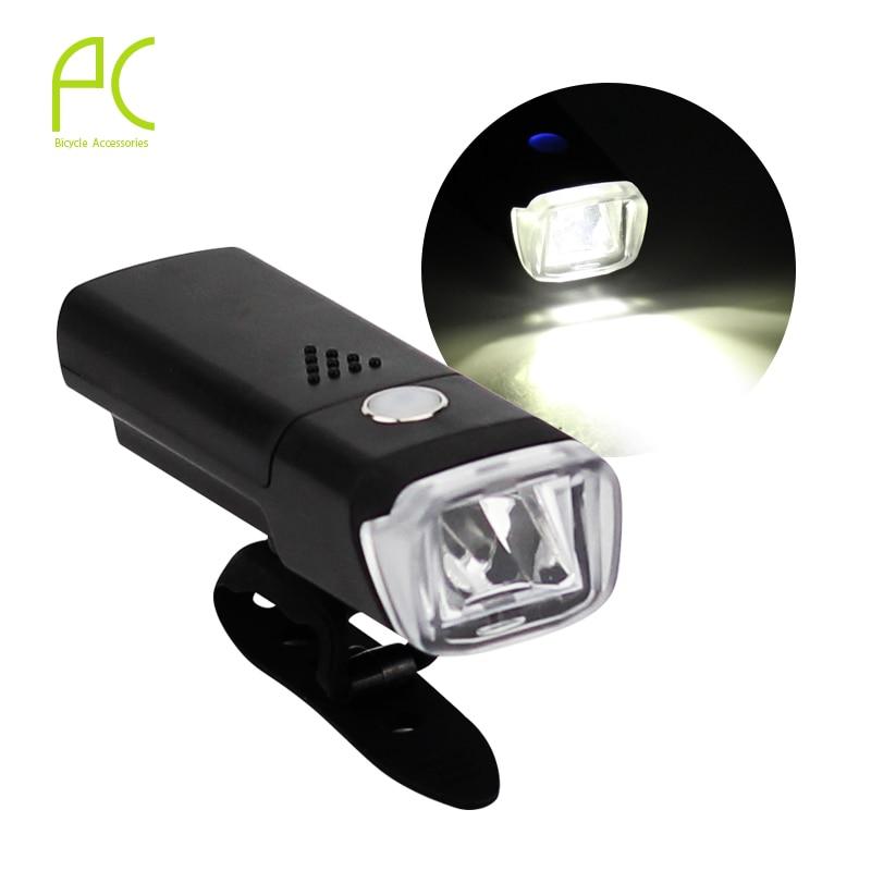 PCycling Bicycle Light Waterproof German Regulatory White LED 4 Modes Highlight Front Warning Lamp MTB Road Bike Head Light