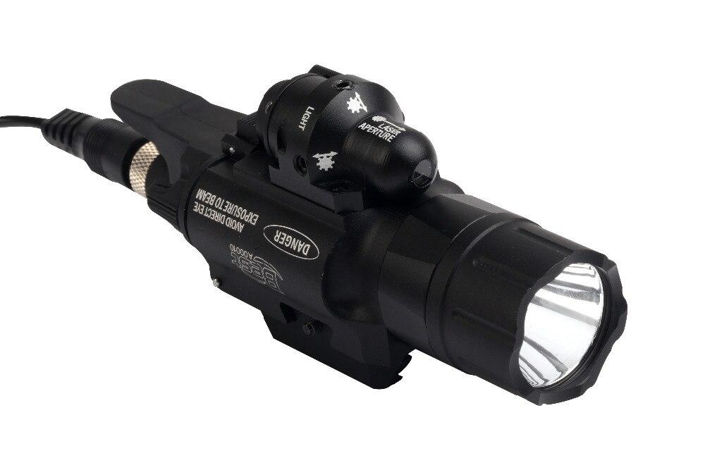 500 Lumens Tactical LED-zaklamp met groene laserstraal voor Picatinny - Jacht - Foto 4