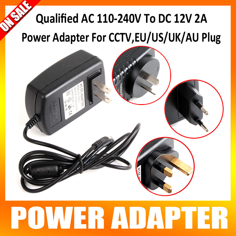 Qualified AC 110-240V To DC 12V 2A Switch Power Supply Adapter For CCTV,EU/US/UK/AU Plug qualified ac 110 240v to dc 12v 1a cctv power supply adapter eu us uk au plug abs plastic
