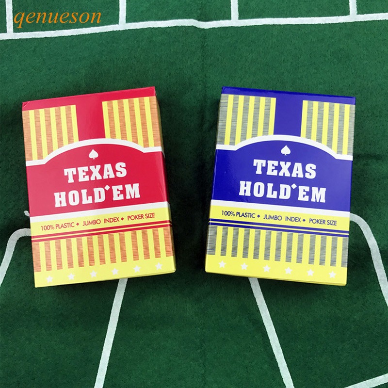 10 Sets/Lot Baccarat Texas Holdem Plastic Playing Cards Waterproof Poker wear-resistant Cards Board Games 63 mm* 88 mm qenueson