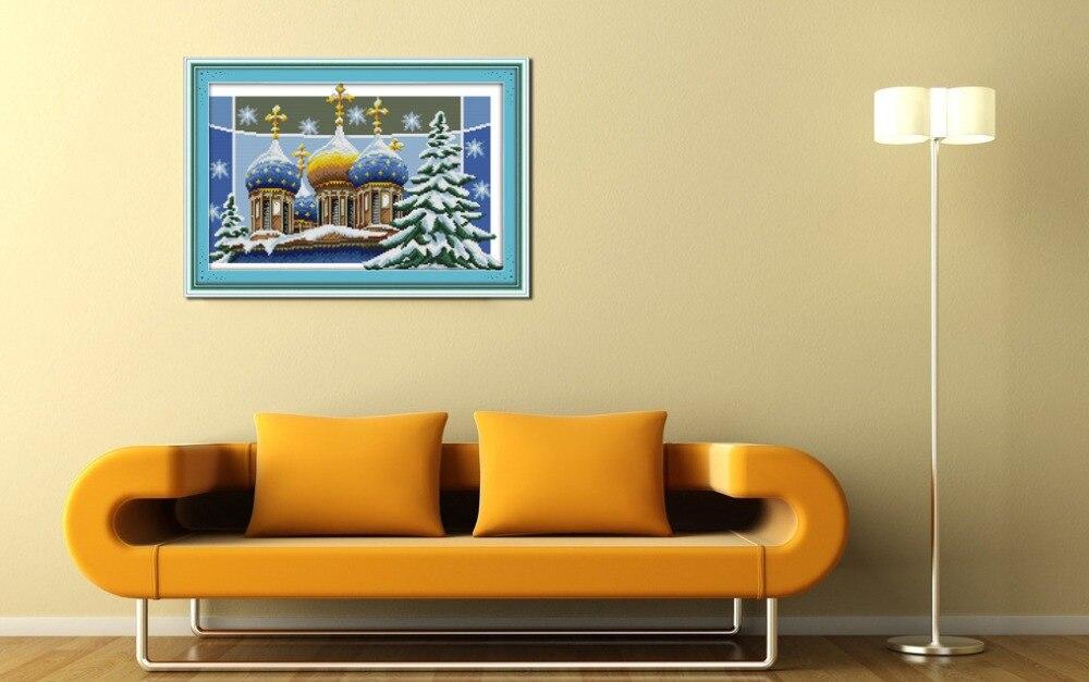 ③Alegría Domingo estilo de paisaje Navidad Castillo contados cross ...