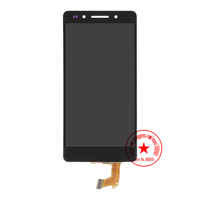 ФОТО Black Top Quality Working LCD Display +Touch Screen Digitizer Assembly For Huawei Honor 7 Phone Replacement IN STOCK