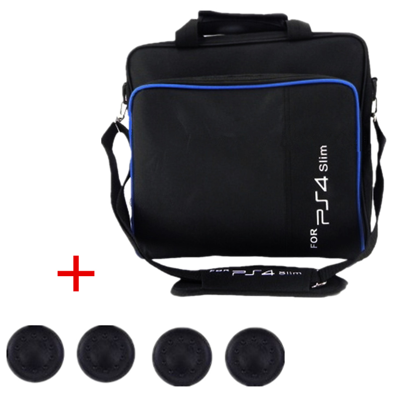 Game Accessories Case Bag For PS4 Slim Console Mens Travel Storage Shoulder Carry Bags Large Capacity Game Sytem Handbag W Gift