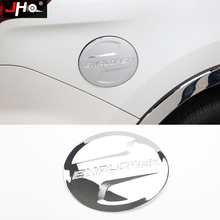 цена на JHO ABS Chrome Fuel Tank Cover Oil Gas Cap Trim For NEW Ford Explorer 2011-2018 12 13 14 2015 2016 2017 Car Styling Accessories