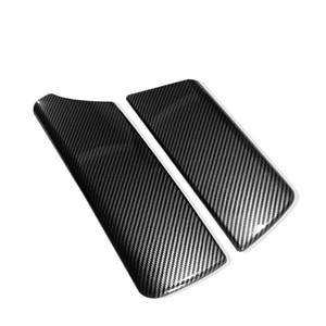 Image 2 - Voor Bmw 5 Serie F10 F18 2011 2012 2013 2014 2015 2016 2017 Carbon Fiber Textuur Car Center Controle Armsteun doos Pad Cover