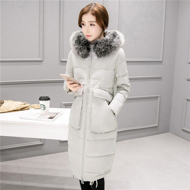 Female winter Parka Women Down Coat Female Plus Size Jacket Real Fox Fur Collar Coats Winter Jacket Women
