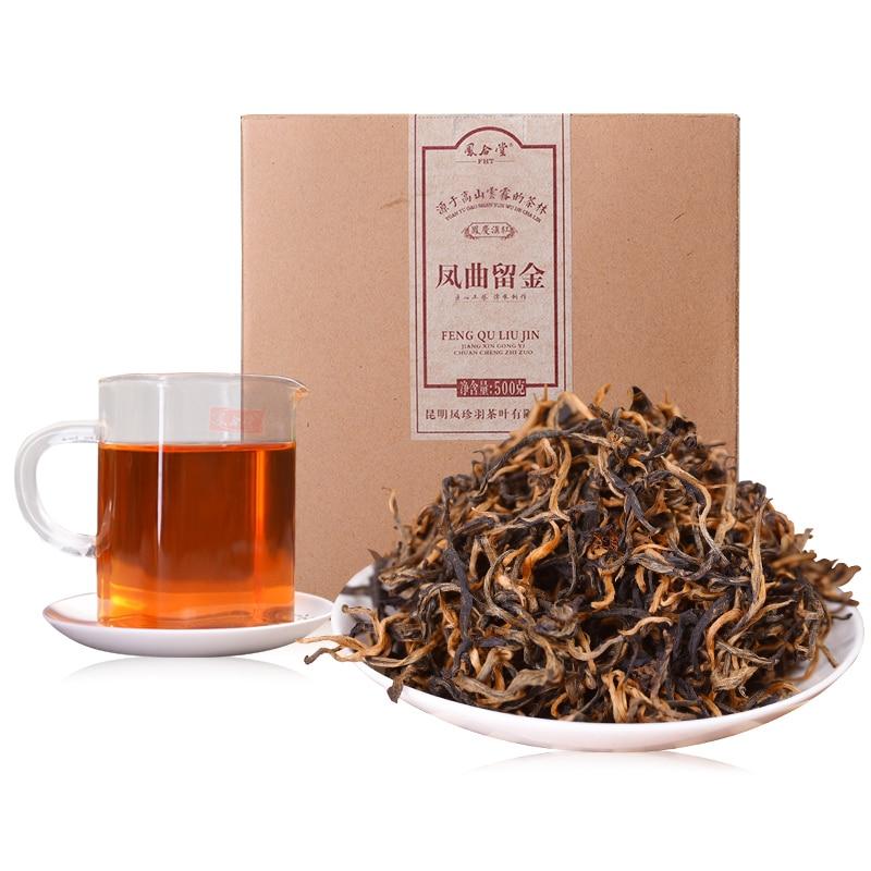 500g 2018 Yr Yunnan Fengqing Dianhong Chinese Kung Fu Tea Maofeng Black Tea Dian Hong Natural Ecological Health Products(China)